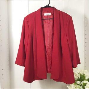 Jones Studio Plus size red blazer